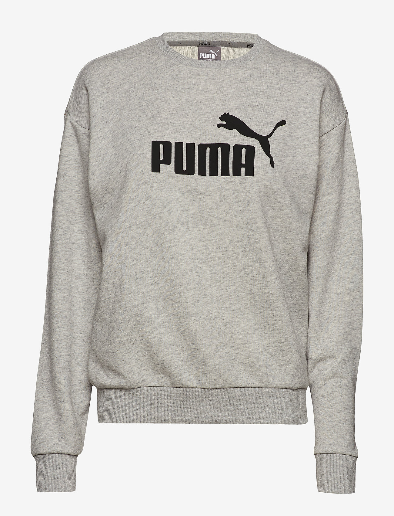 PUMA - ESS Logo Crew Sweat TR - svetarit - light gray heather - 0