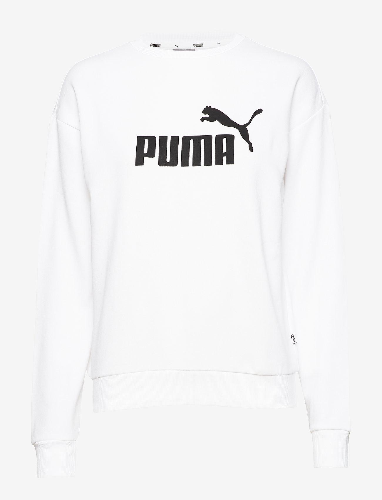PUMA - ESS Logo Crew Sweat TR - svetarit - puma white - 0