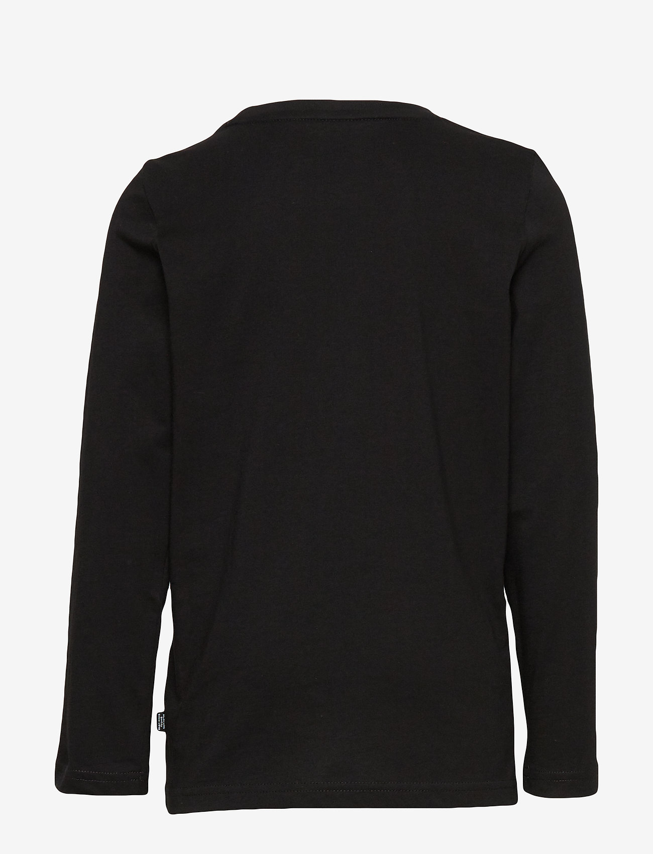 Puma Ess Logo Longsleeve Tee B - Överdelar Cotton Black