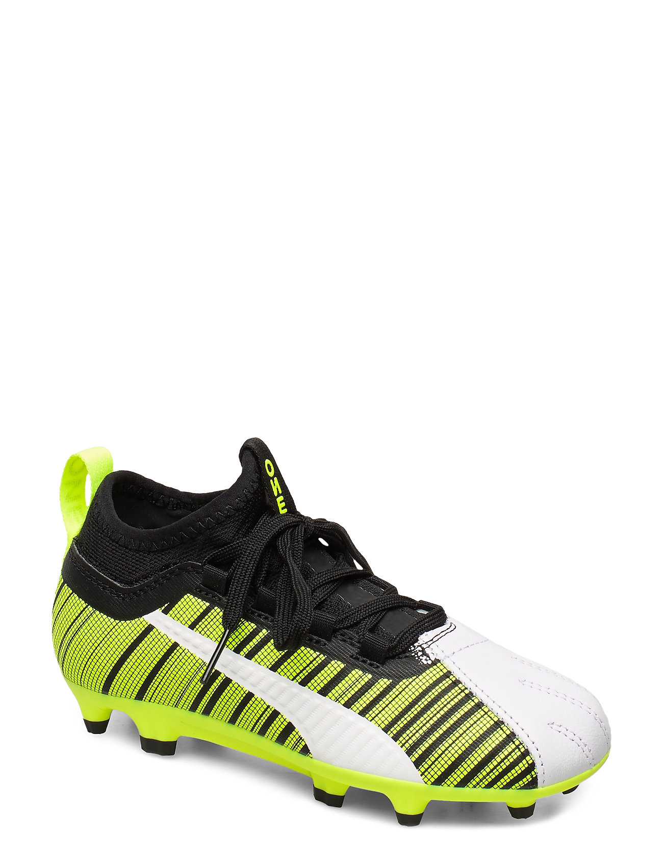 PUMA PUMA ONE 5.3 FG/AG Jr - PUMA WHITE-PUMA BLACK-YELLOW ALERT