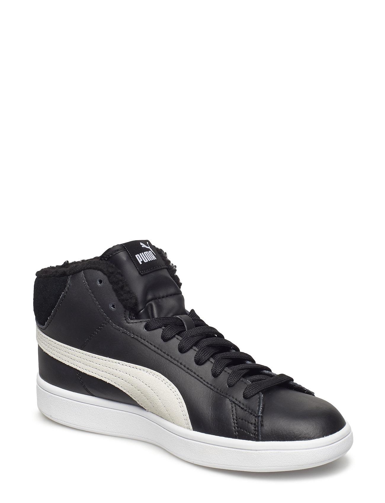 Puma Smash V2 Mid L Fur Jr (Puma Black-puma White) (£32.40) - PUMA ... cdb3c94497