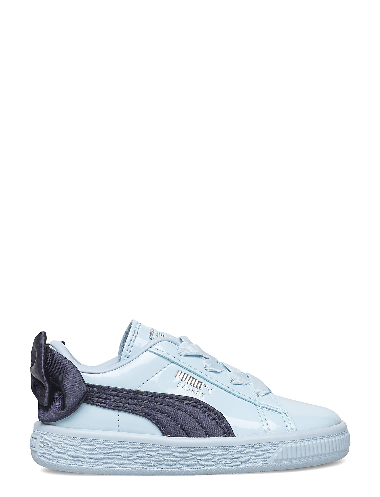 Basket Bow Patent Ac Inf Sneakers Sko Blå PUMA