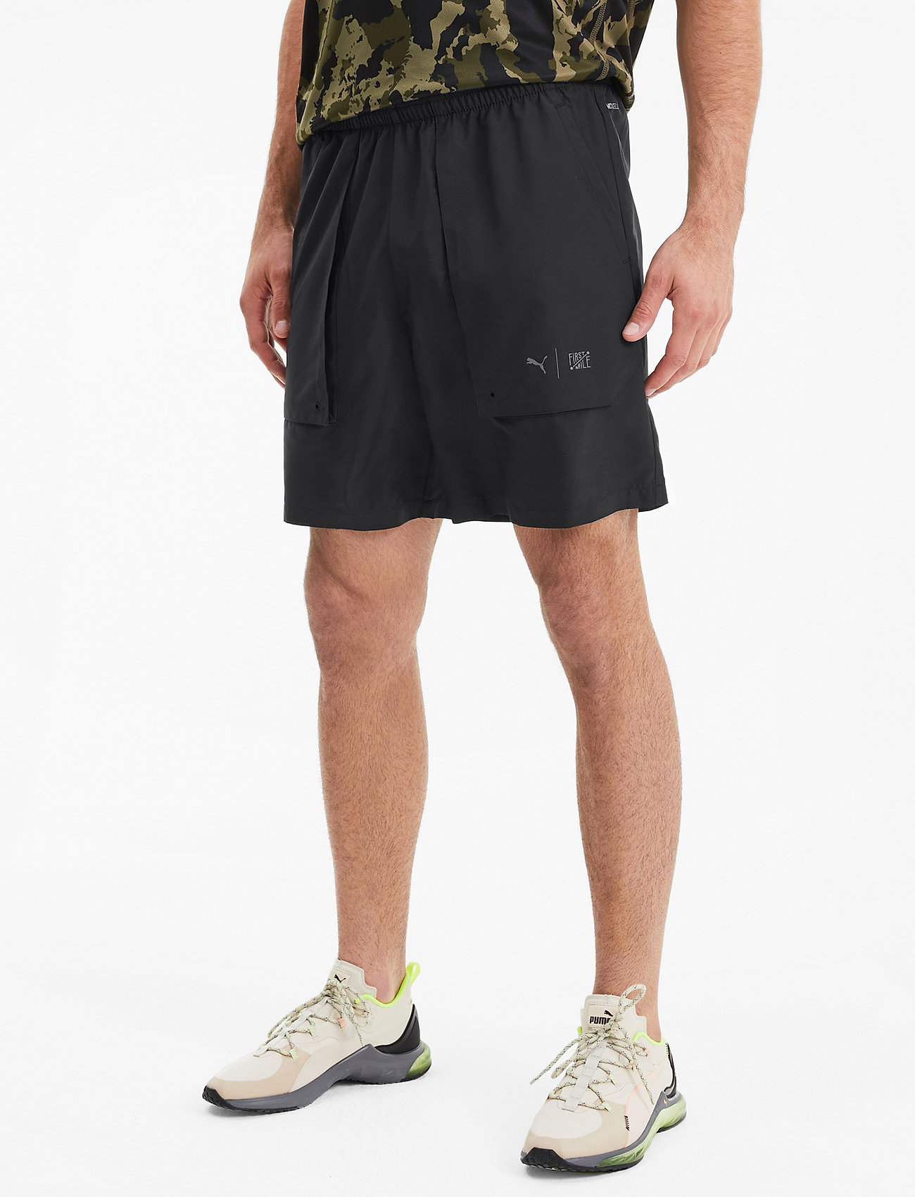 PUMA - First Mile Woven Short - chaussures de course - puma black - 0