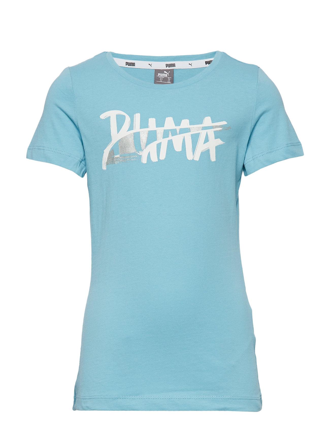 PUMA Alpha Logo Tee G - MILKY BLUE