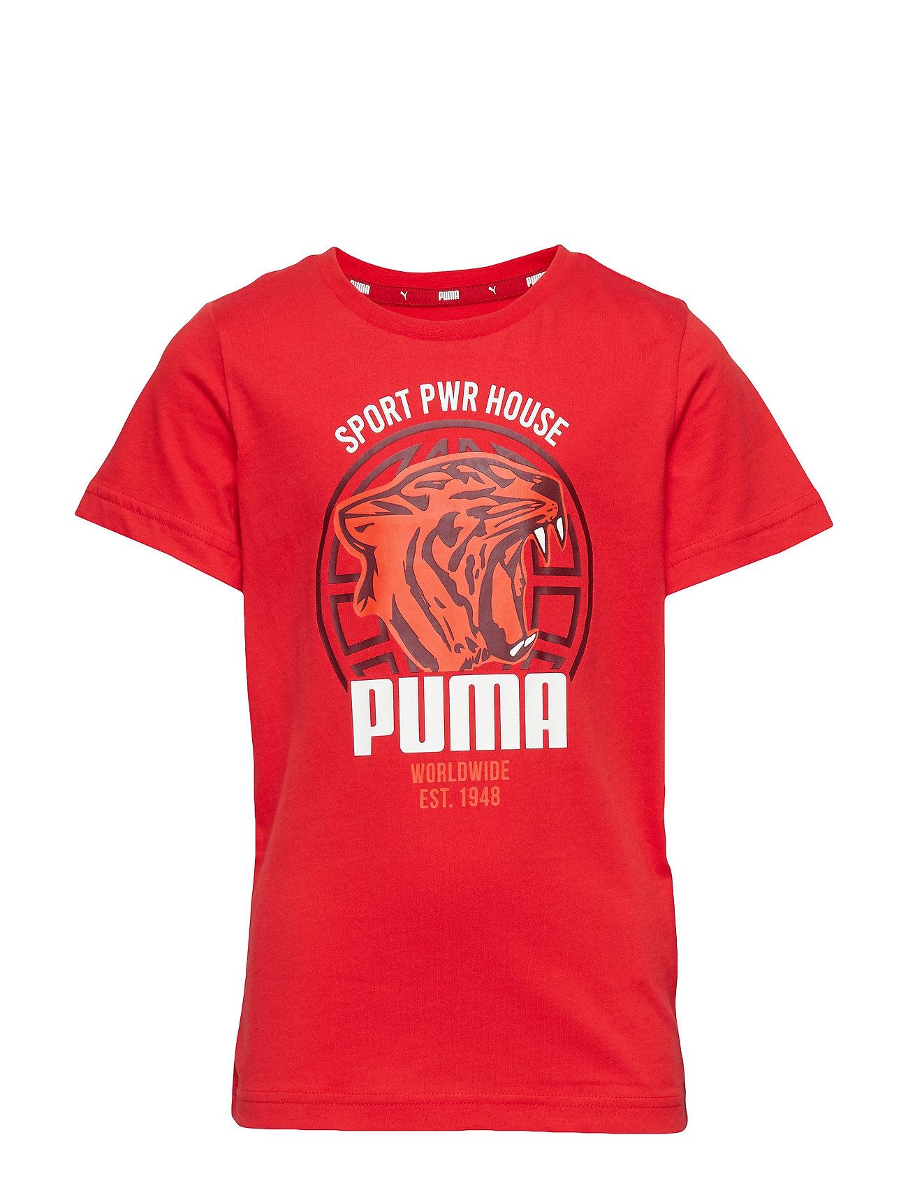 PUMA Alpha Graphic Tee B - HIGH RISK RED