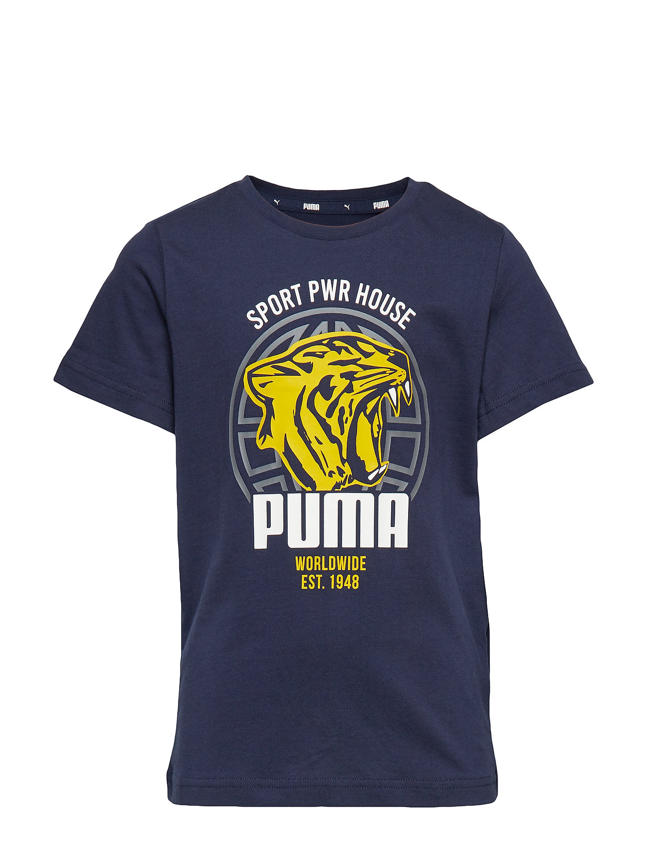 PUMA Alpha Graphic Tee B - PEACOAT