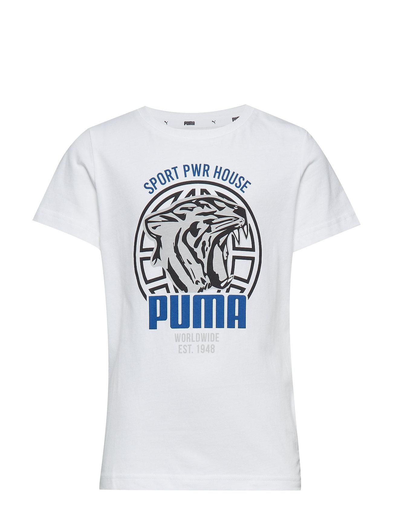 PUMA Alpha Graphic Tee B - PUMA WHITE