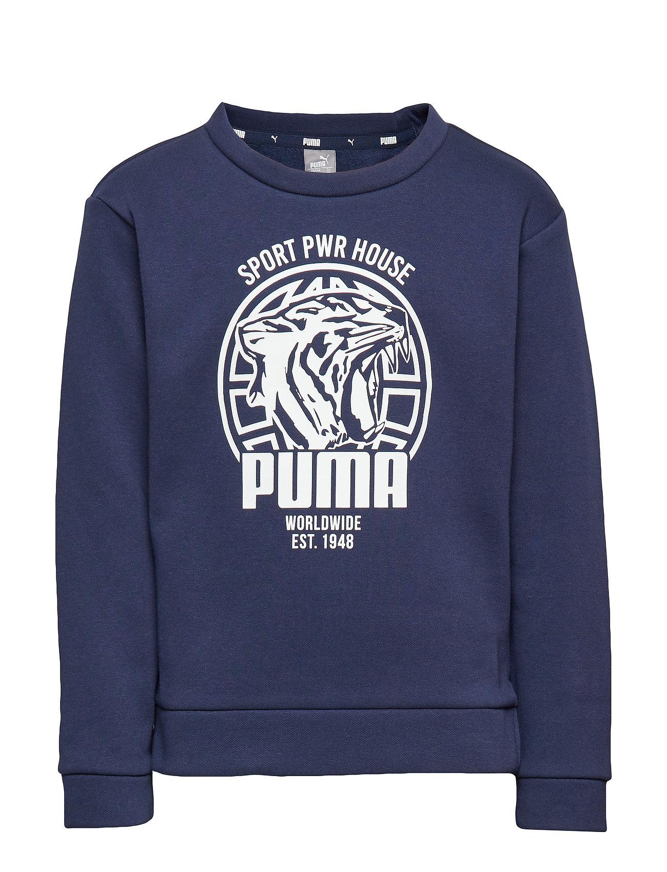 PUMA Alpha Graphic Crew FL B - PEACOAT