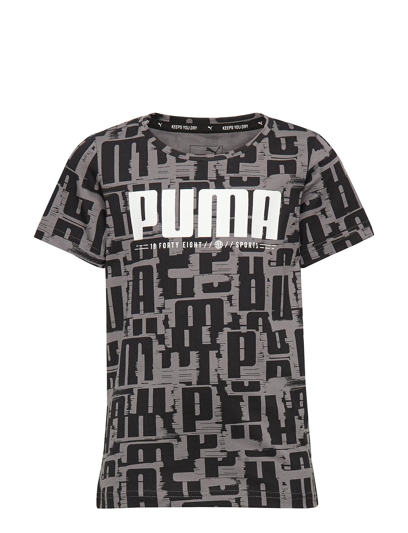 PUMA Active Sports AOP Tee B - PUMA BLACK