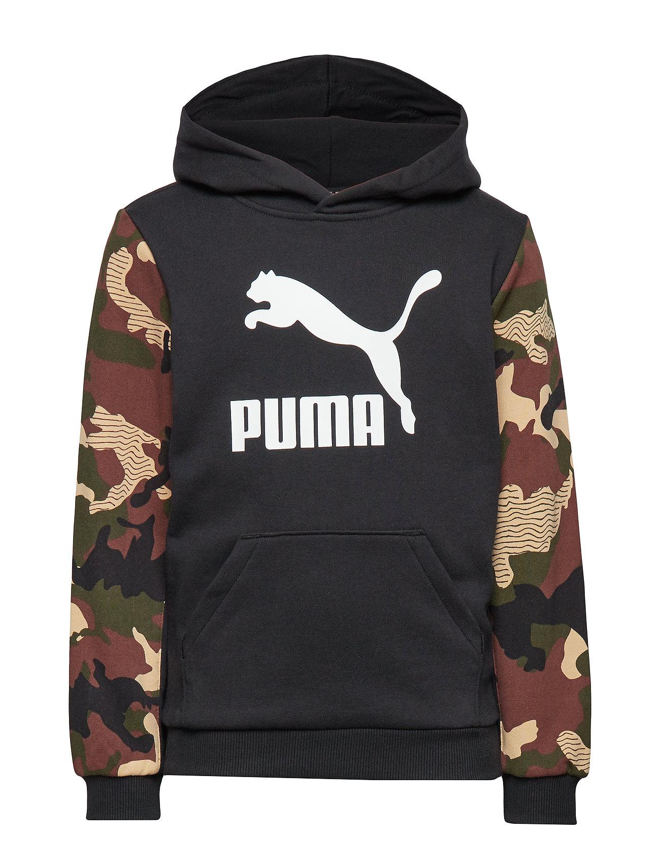 PUMA Classics AOP Hoody TR B - PUMA BLACK
