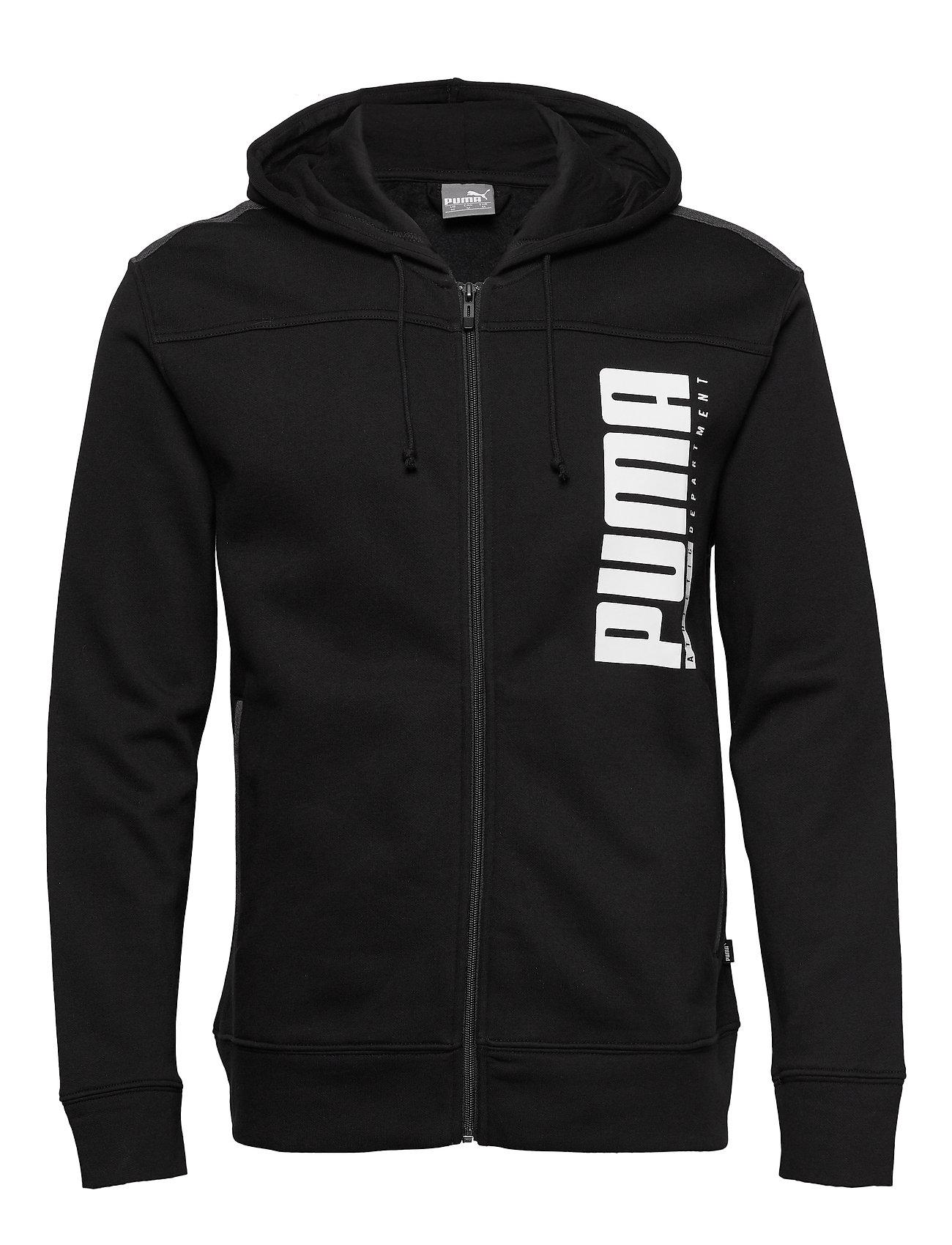 PUMA Men Hooded Zip Jkt - PUMA BLACK
