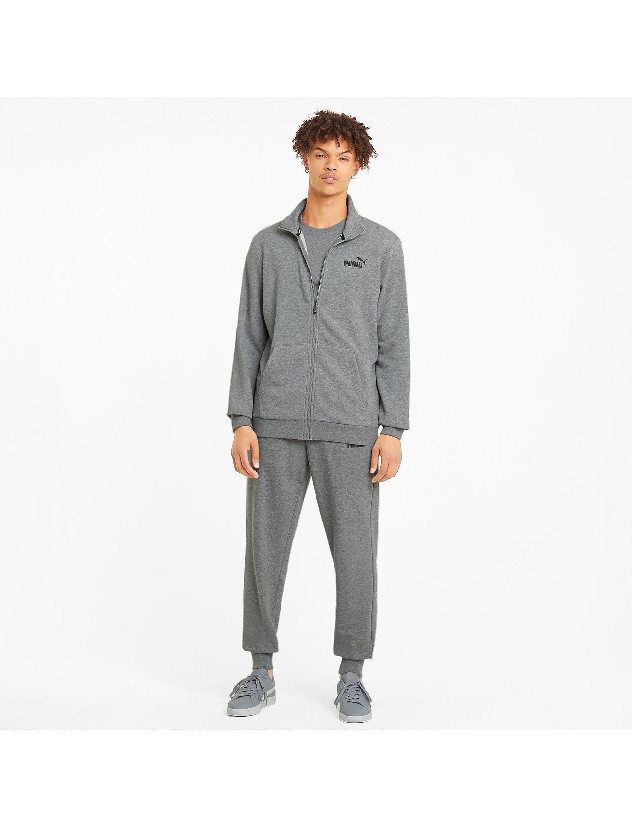 PUMA - ESS Track Jacket TR - Överdelar - medium gray heather - 0