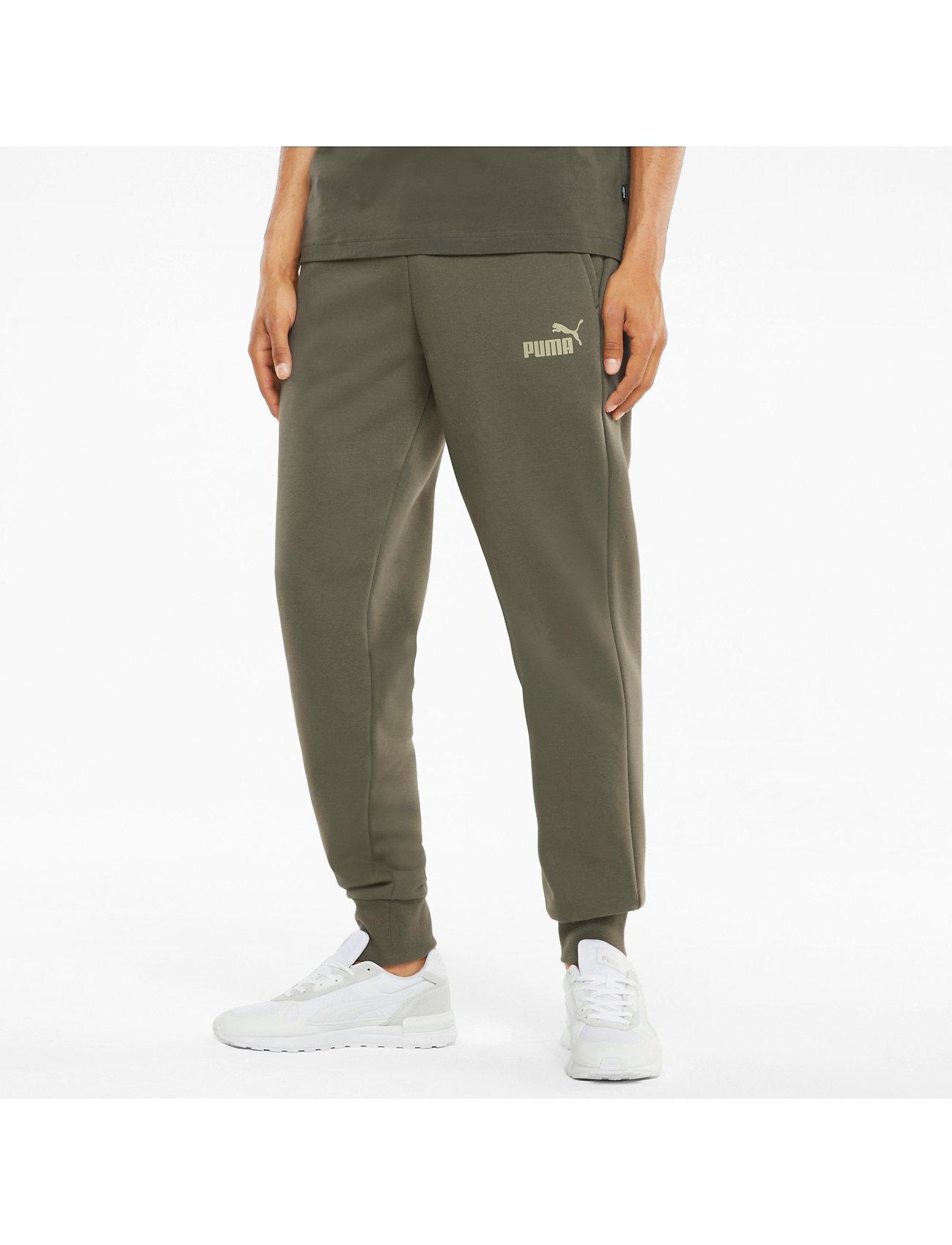 PUMA - ESS Logo Pants FL cl (s) - sweatpants - grape leaf - 0