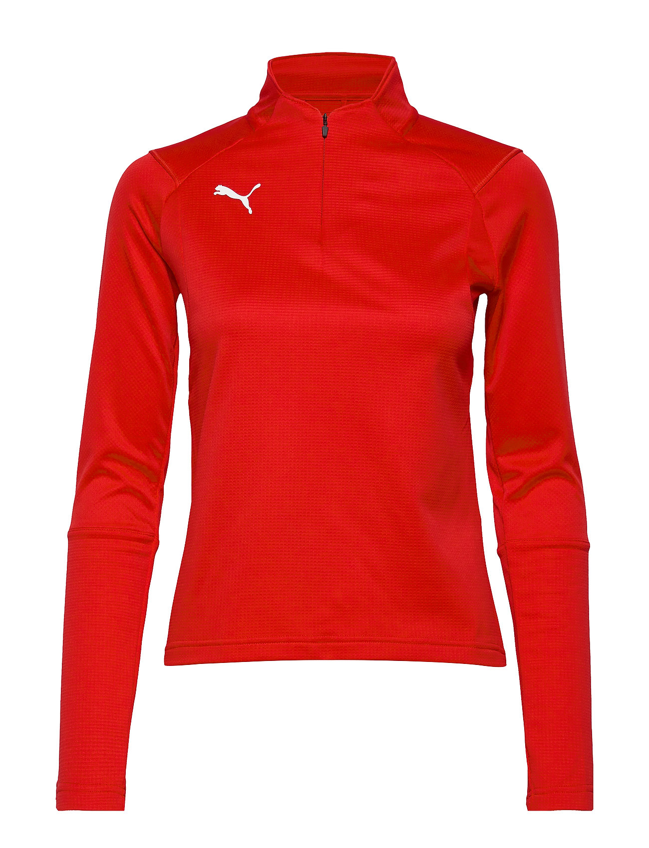 PUMA LIGA Training 1/4 Zip Top W - PUMA RED-PUMA WHITE