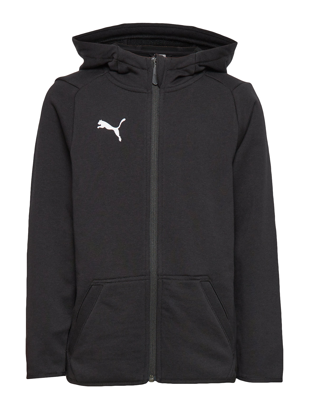 PUMA LIGA Casuals Hoody Jacket Jr - PUMA BLACK-PUMA WHITE