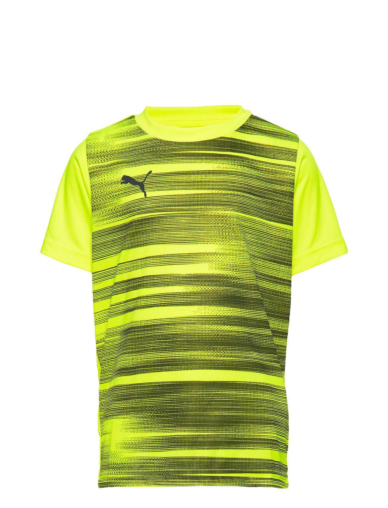 PUMA ftblNXT Graphic Shirt Core Jr - YELLOW ALERT-GREY DAWN