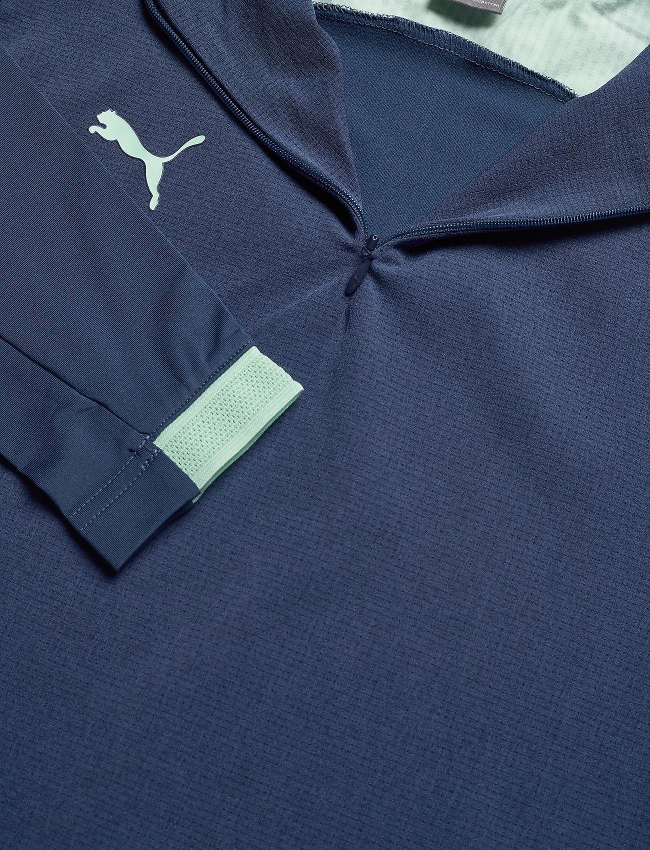 Puma Ftblnxt 1/4 Zip Top W - Sweats Dark Denim-mist Green