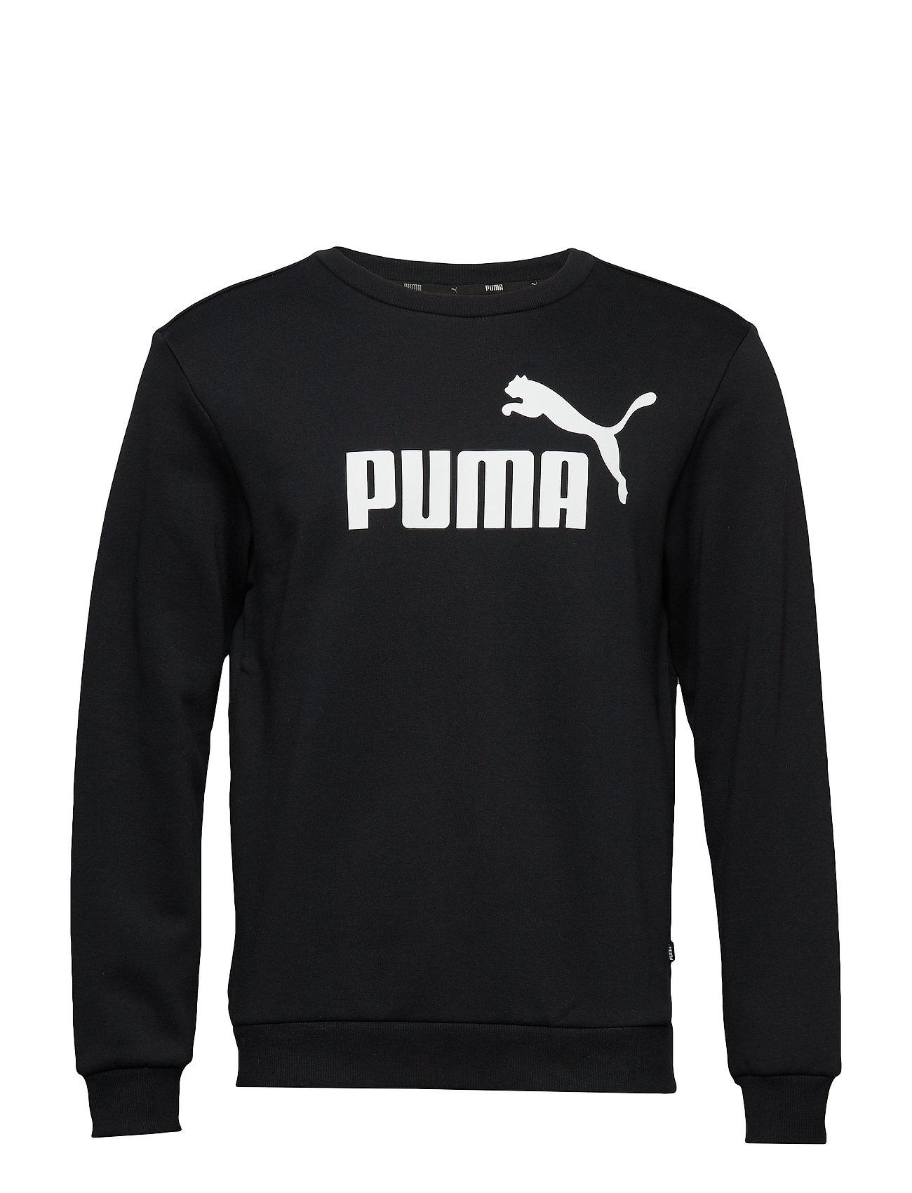 Crew Ess Sweat Fl Bigpuma BlackPuma Logo rxBedWCo