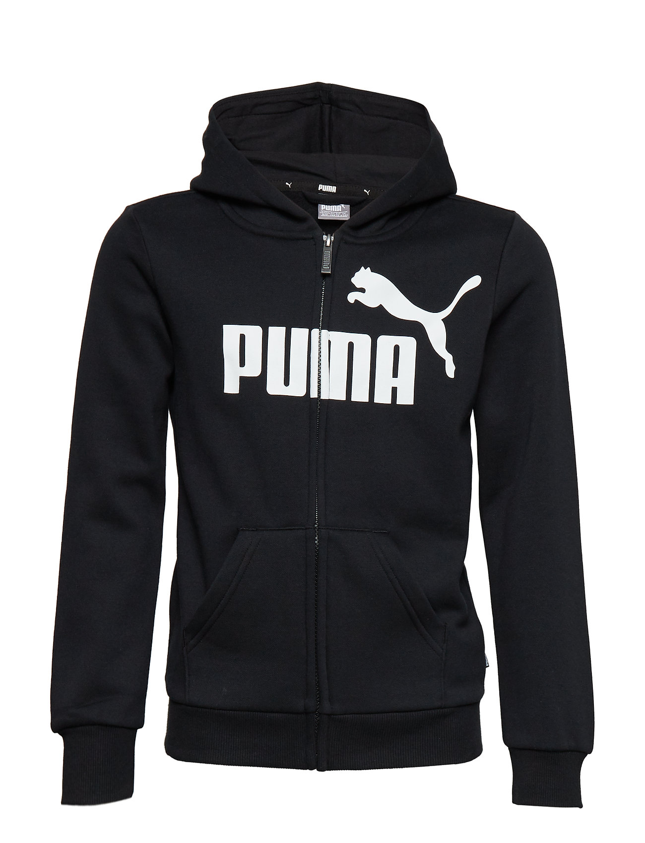 PUMA ESS Logo Hooded Jacket FL B - COTTON BLACK