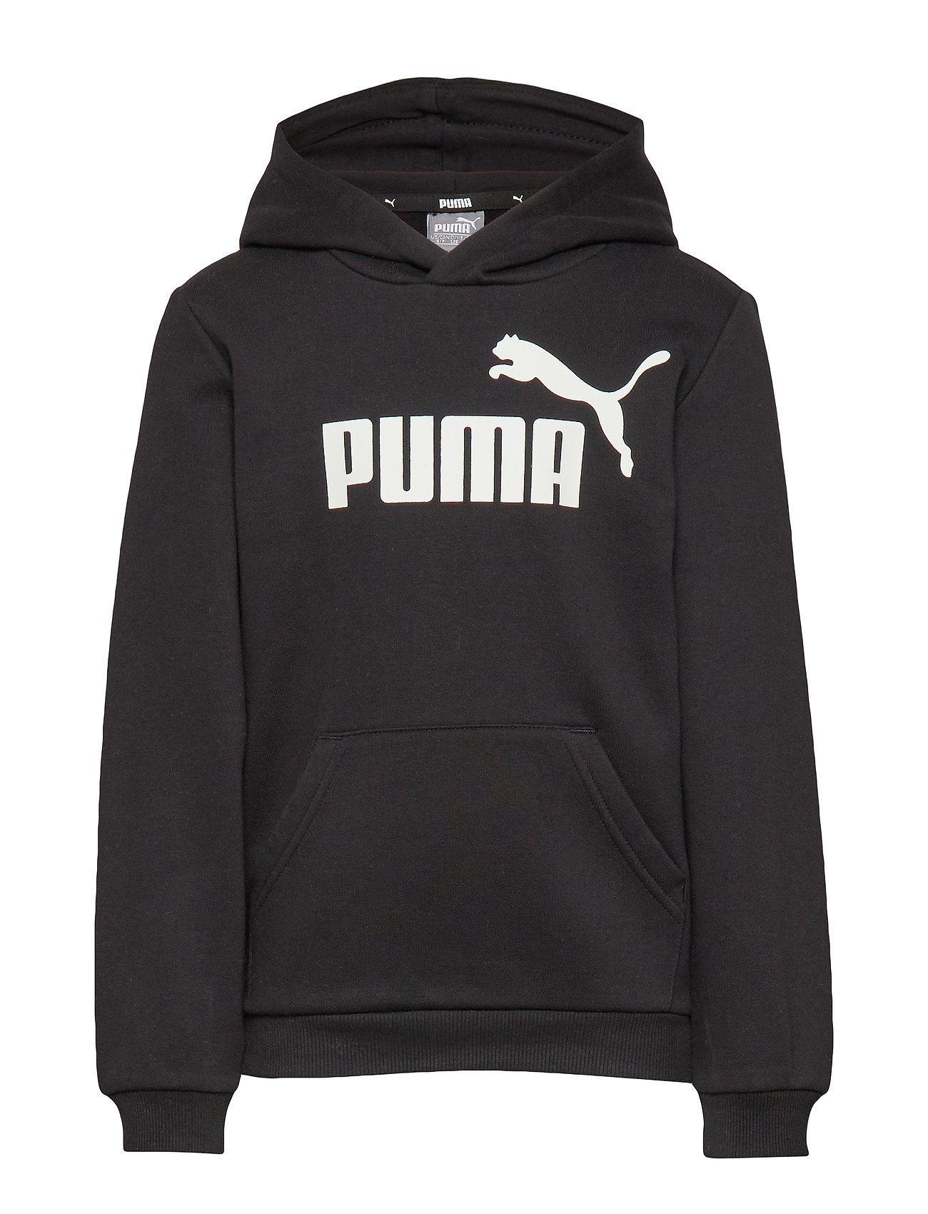 PUMA ESS Logo Hoody FL B - COTTON BLACK