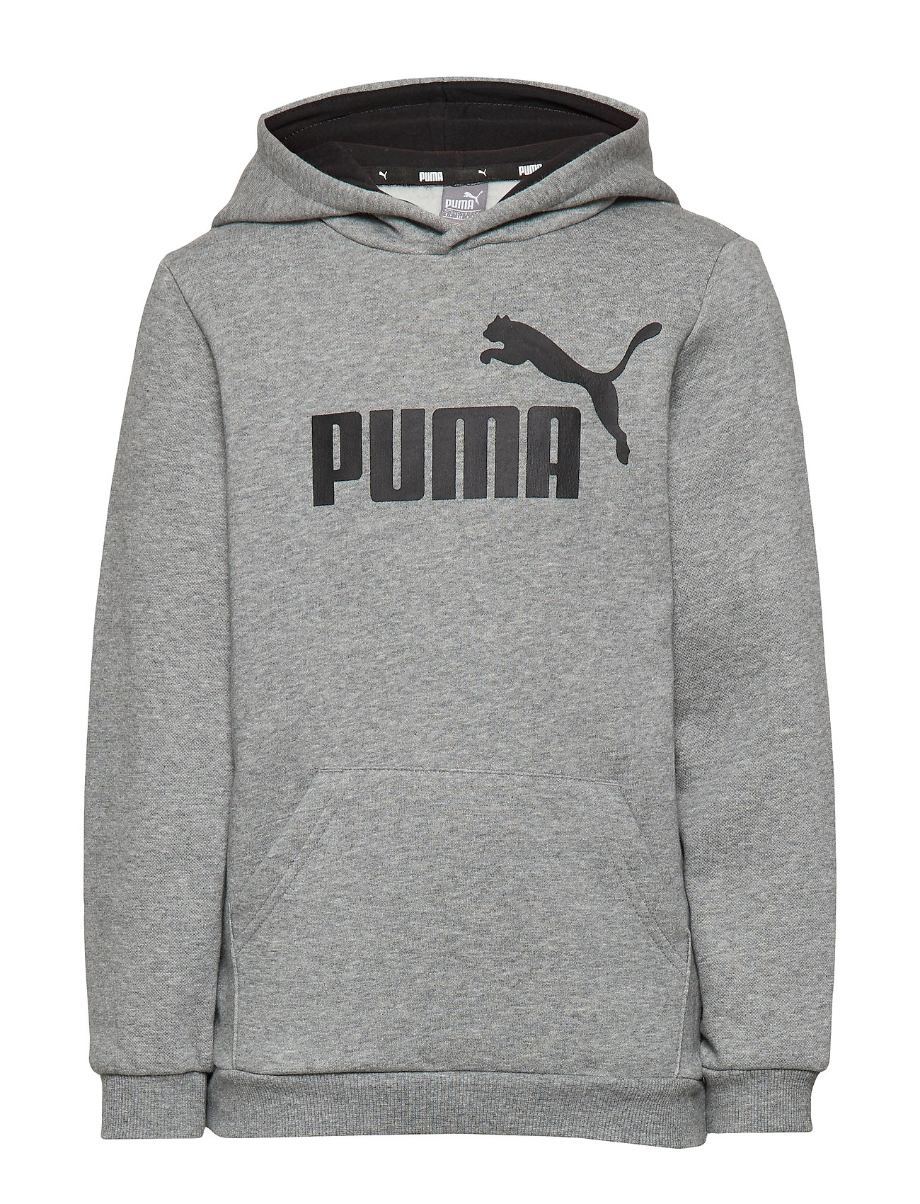 PUMA ESS Logo Hoody FL B - MEDIUM GRAY HEATHER