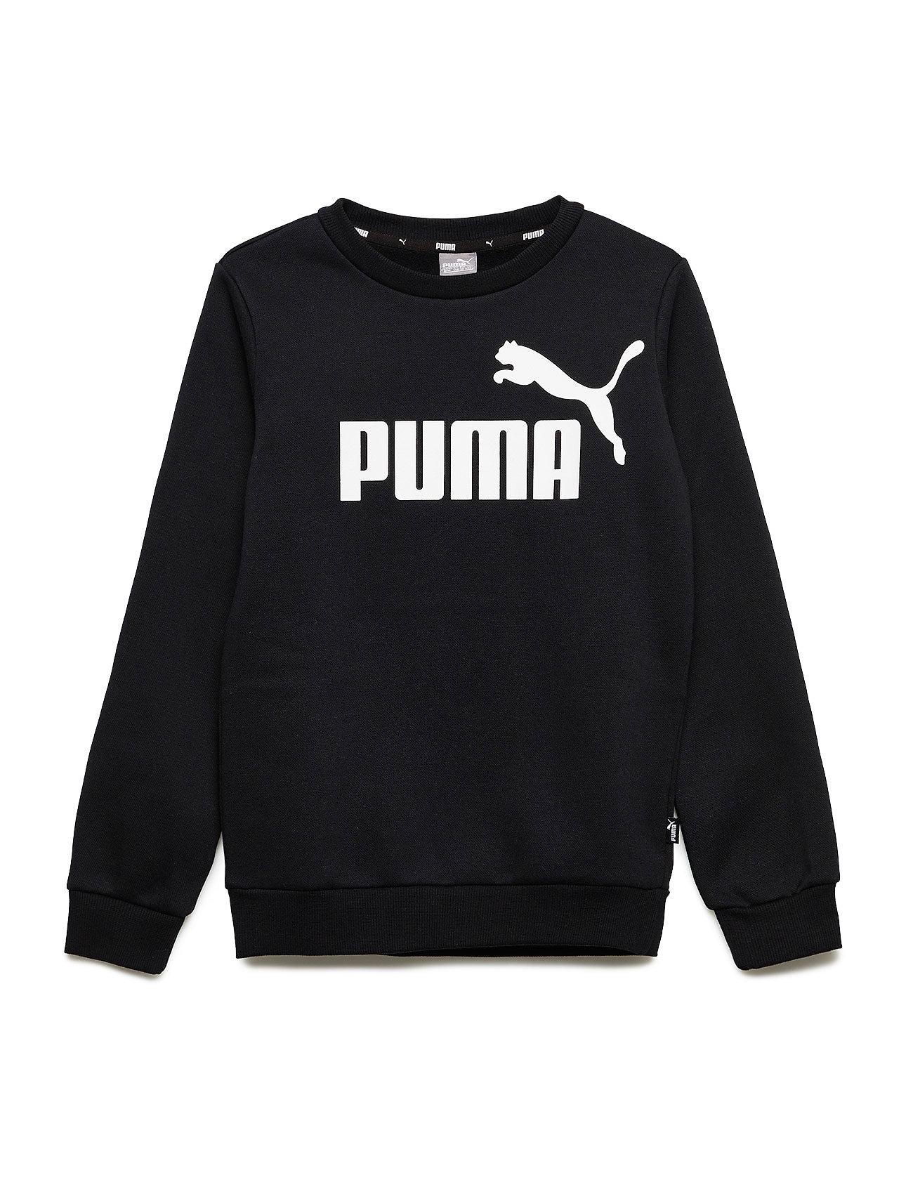 PUMA ESS Logo Crew Sweat FL B - COTTON BLACK