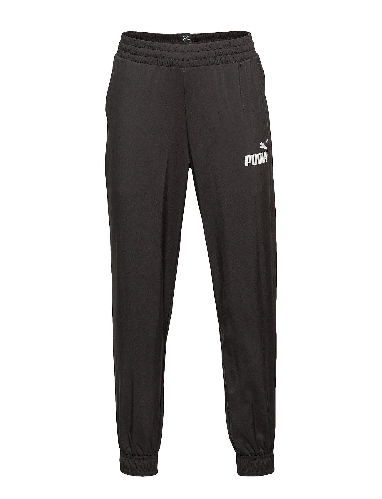 PUMA ESS Logo Woven Pants cl B - PUMA BLACK
