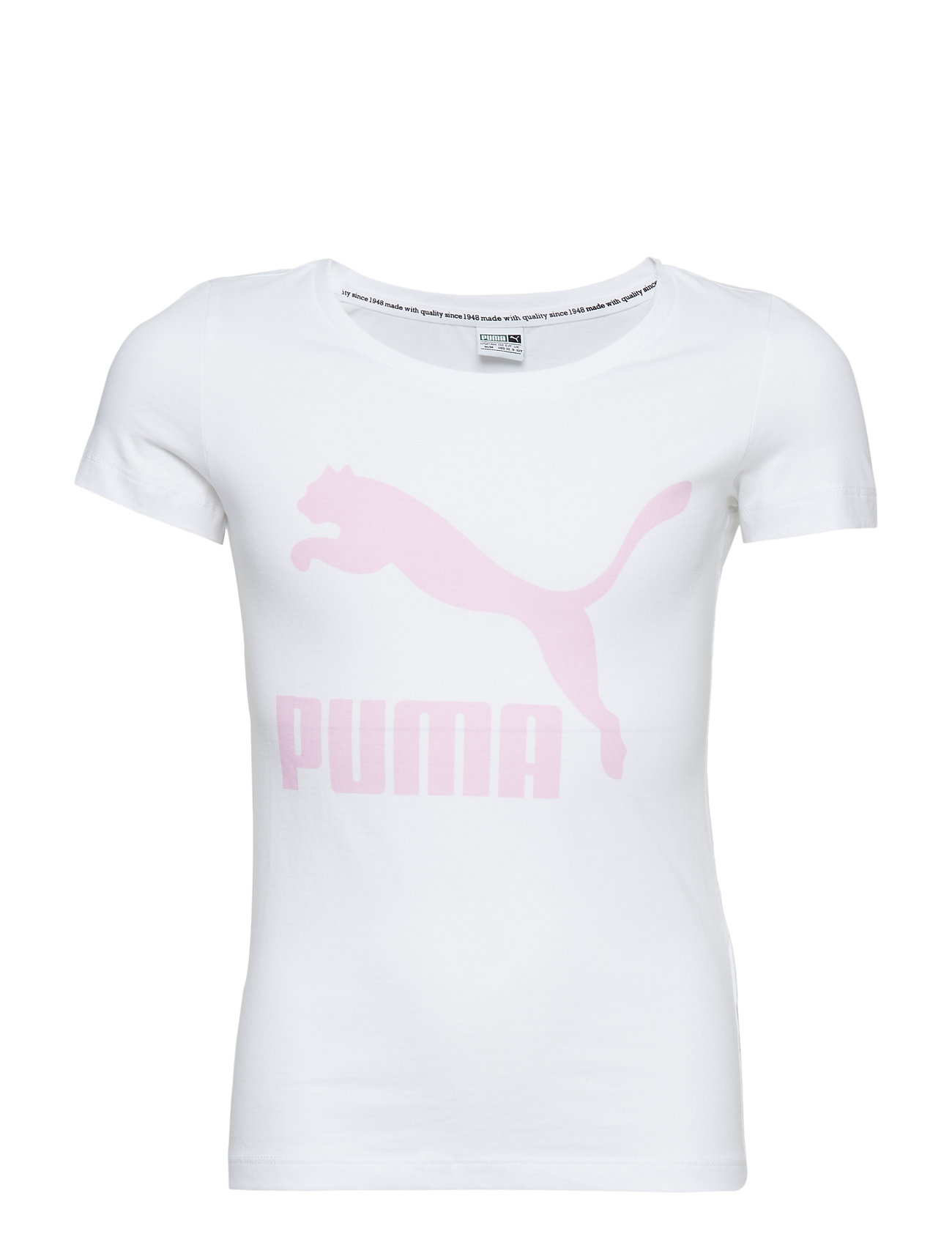 b6778671 Classics Logo Tee G (Puma White-pale Pink) (130 kr) - PUMA -   Boozt.com