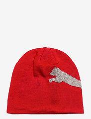 PUMA - Ess Logo Beanie - mössor - high risk red-big cat - 1