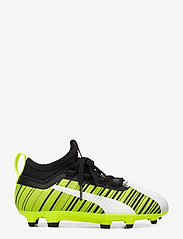 PUMA - PUMA ONE 5.3 FG/AG Jr - buty sportowe - puma white-puma black-yellow alert - 1