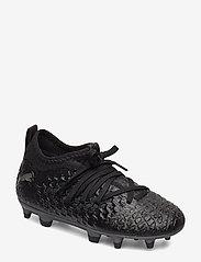 PUMA - FUTURE 4.3 NETFIT FG/AG Jr - buty piłkarskie - puma black-puma black-puma aged silver - 0