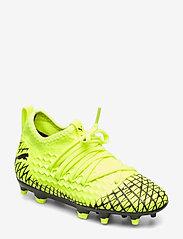 PUMA - FUTURE 4.3 NETFIT FG/AG Jr - buty piłkarskie - yellow alert-puma black - 0
