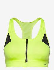 PUMA - High Impact Front Zip Bra - sort bras:high - fizzy yellow - 0