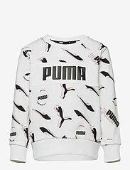 PUMA - Alpha AOP Crew TR B - sweatshirts - puma white - 0