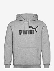 PUMA - ESS Big Logo Hoodie FL - huvtröjor - medium gray heather - 0
