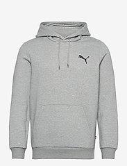 PUMA - ESS Small Logo Hoodie FL - huvtröjor - medium gray heather-cat - 0