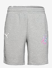 PUMA - NEYMAR JR CREATIVITY Logo Shorts - krótkie spodenki - medium grey heather - 0