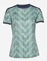 PUMA - ftblNXT Graphic Shirt W - football shirts - dark denim-mist green - 0