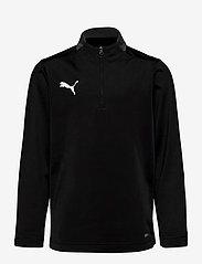 PUMA - ftblPLAY 1/4 Zip Top Jr - sweatshirts - puma black-asphalt - 0
