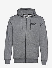 PUMA - ESS FZ Hoody FL - hoodies - medium gray heather - 0
