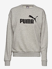 PUMA - ESS Logo Crew Sweat TR - sweatshirts - light gray heather - 0