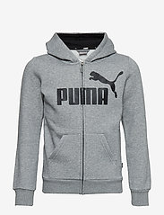 PUMA - ESS Logo Hooded Jacket FL B - kapuzenpullover - medium gray heather - 0