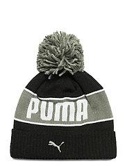 PUMA POM Beanie - PUMA BLACK-ULTRA GRAY