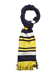 Long Varsity Scarf - EVENING BLUE-LEMON-VANILLA ICE