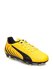 PUMA ONE 20.4 FG/AG Jr - ULTRA YELLOW-PUMA BLACK-ORANGE ALER