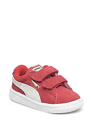 Suede 2 straps Inf - HIGH RISK RED-PUMA WHITE