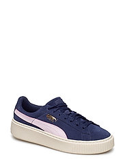 Suede Platform SNK Jr - PEACOAT-WINSOME ORCHID-PUMA TEAM GO