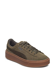 Suede Platform Animal - OLIVE NIGHT-SILVER