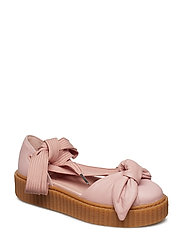 Bow Creeper Sandal - SILVER PINK