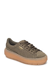 Suede Platform Trace Wn's - OLIVE NIGHT